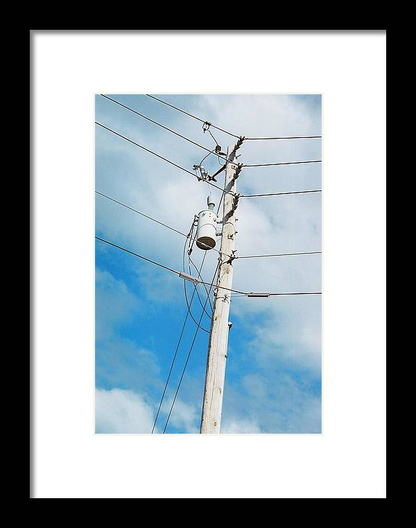 Power Line Framed Print featuring the photograph Power Line Boogie Woogie by Jennifer Trone