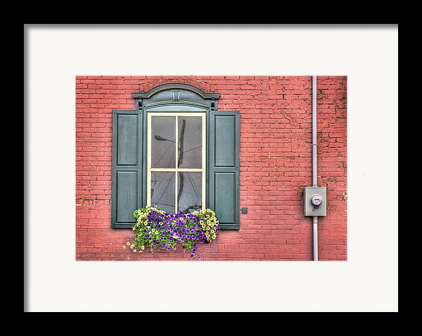 Red Framed Print featuring the photograph Power Lines by Elisabeth Van Eyken