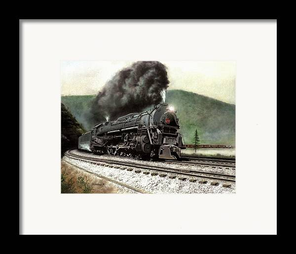 Framed Print featuring the painting Power On The Curve by David Mittner