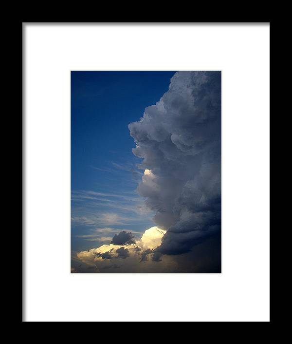 Clouds Framed Print featuring the photograph Power One by Ana Villaronga