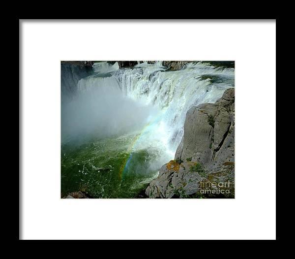 Beautiful Framed Print featuring the photograph Powerful Large Waterfall Shoshone Falls Amazing Beauty Water Fal by Lane Erickson