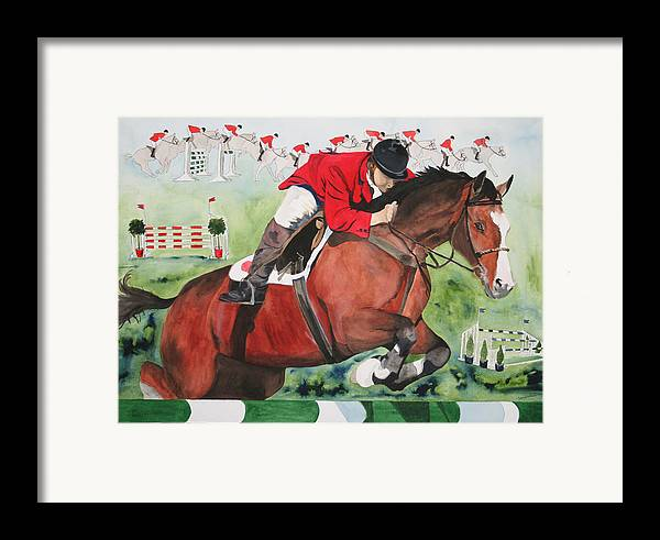 Horse Framed Print featuring the painting Practice Makes Perfect by Jean Blackmer