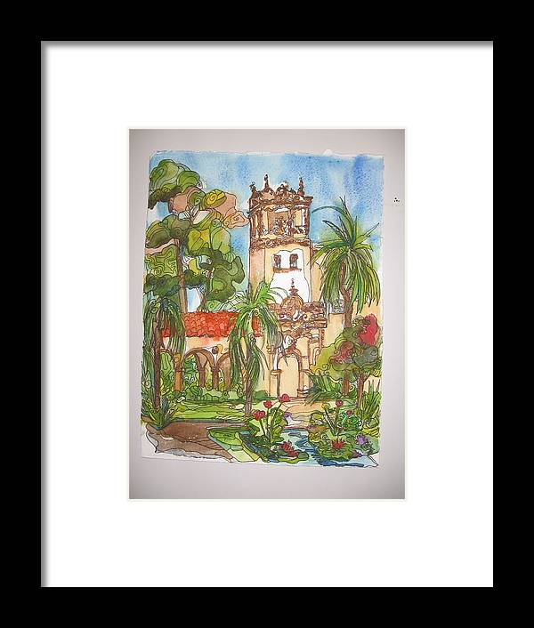 Landscape Painted On Location Framed Print featuring the painting Prado- Balboa Park by Michelle Gonzalez
