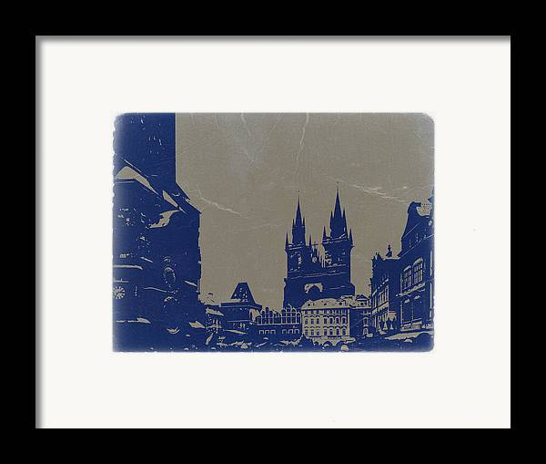 Prague Framed Print featuring the photograph Prague Old Town Square by Naxart Studio