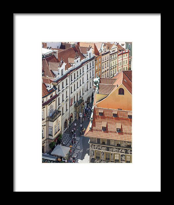 Prague Framed Print featuring the photograph Prague Red Rooftops In The Old Town by Tim Clark