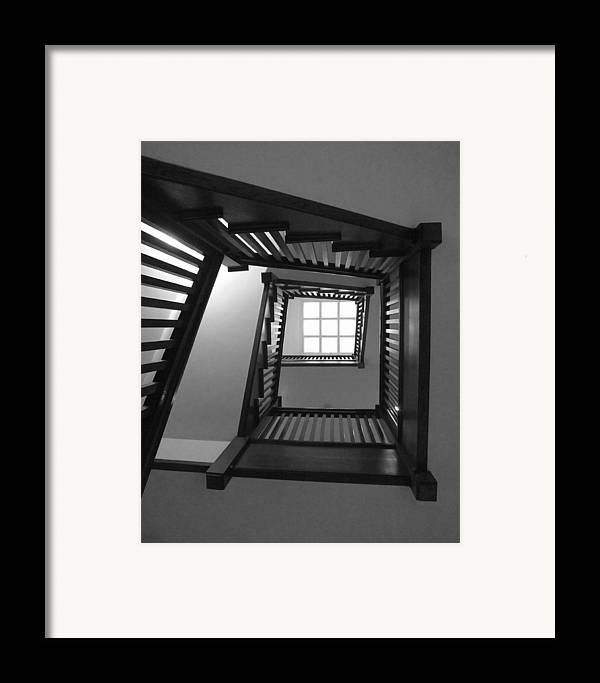 Chicago Framed Print featuring the photograph Prairie House Stairs by Anna Villarreal Garbis