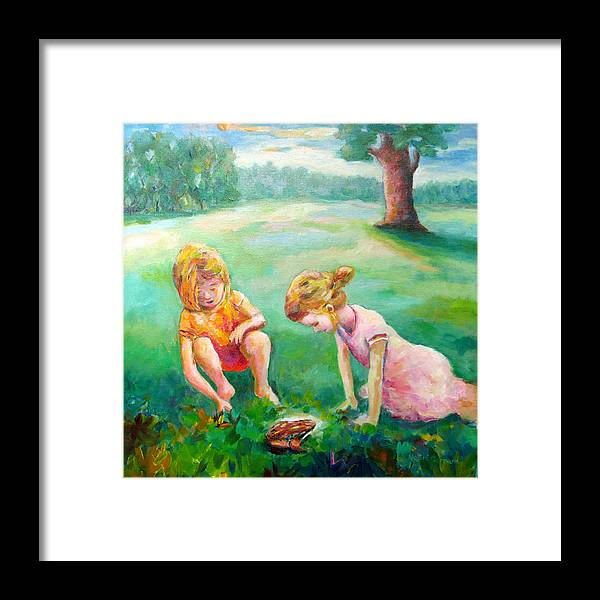 Kids Framed Print featuring the painting Prairie Prince by Naomi Gerrard