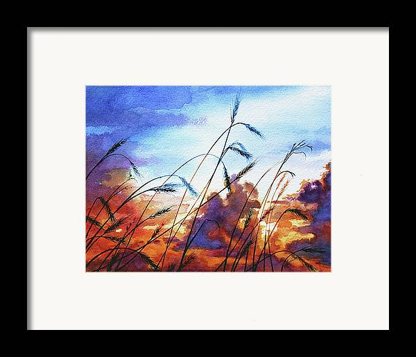 Prairie Sky Painting Framed Print featuring the painting Prairie Sky by Hanne Lore Koehler