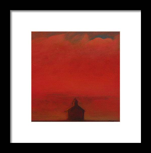 Landscape Framed Print featuring the painting Prairie Sunset II by Ruth Sharton