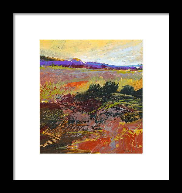 Oranges Framed Print featuring the painting Prarie Sketch by Dale Witherow