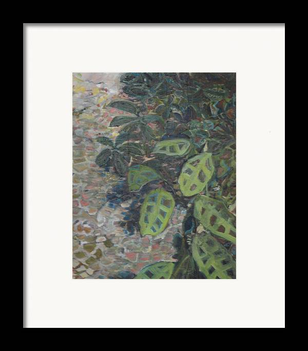 Garden Framed Print featuring the painting Prayer Plant by Alicia Kroll
