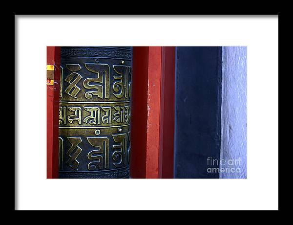 Prayer Framed Print featuring the photograph Prayer Wheel At The Lama Temple by April Holgate