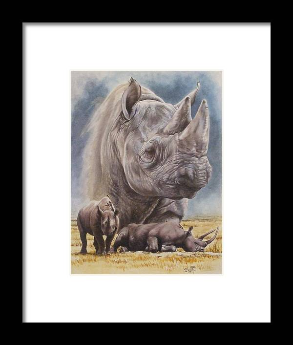 Wildlife Framed Print featuring the mixed media Precarious by Barbara Keith
