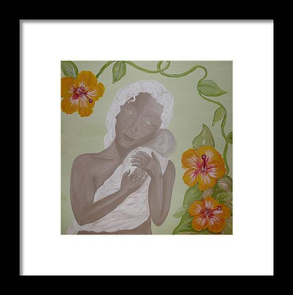 Mother Framed Print featuring the painting Precious Time by Jennifer Hernandez