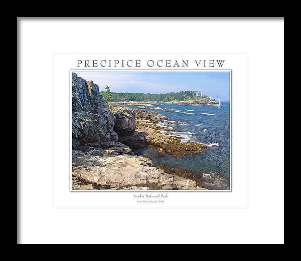 Landscape Framed Print featuring the photograph Precipice Ocean View by Peter Muzyka