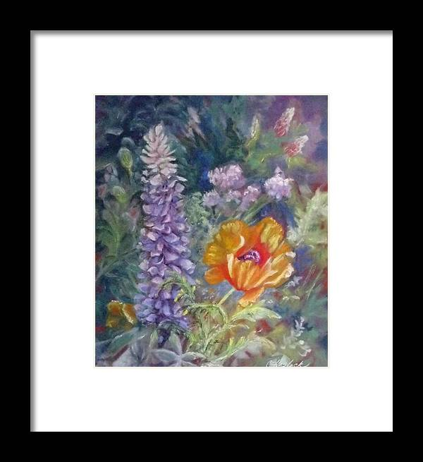Colorado Framed Print featuring the pastel Precocious Poppy by Carole Haslock
