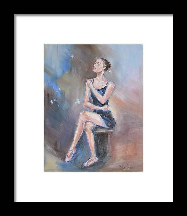 Ballet Dancer Framed Print featuring the painting Prelude by Elena Broach