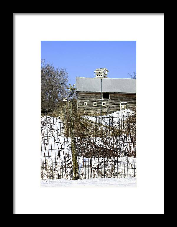 Country Framed Print featuring the photograph Premium Bird House View by Deborah Benoit