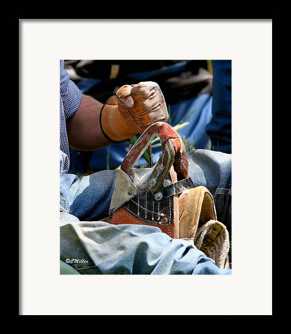 Rodeo Framed Print featuring the photograph Preparation.. by Carol Miller