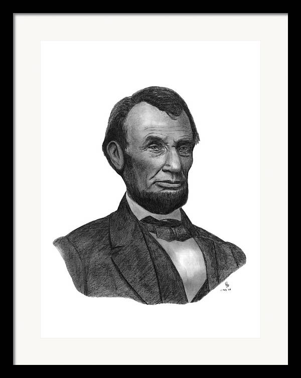 President Framed Print featuring the drawing President Abraham Lincoln by Charles Vogan