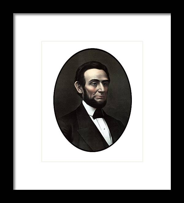 Abraham Lincoln Framed Print featuring the painting President Abraham Lincoln by War Is Hell Store