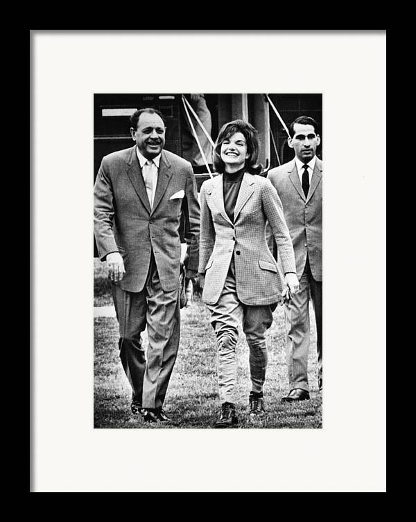 1960s Framed Print featuring the photograph President Ayub Khan Left, Of Pakistan by Everett