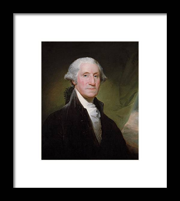 George Washington Framed Print featuring the painting President George Washington by War Is Hell Store