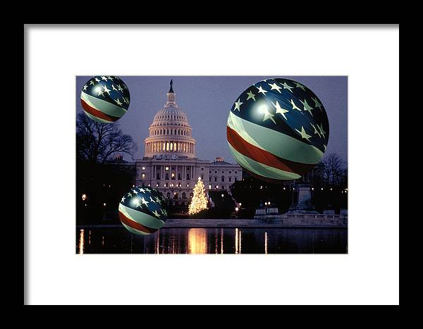 American Framed Print featuring the photograph Presidential Balls by Carl Purcell