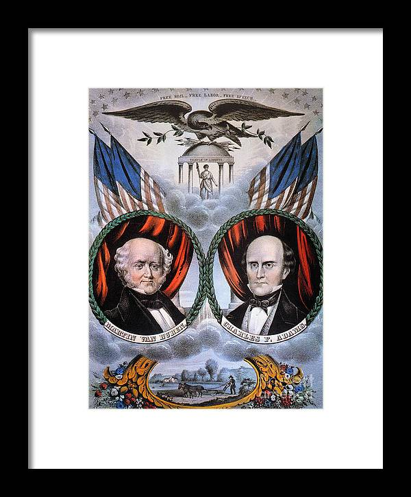 1848 Framed Print featuring the photograph Presidential Campaign, 1848 by Granger