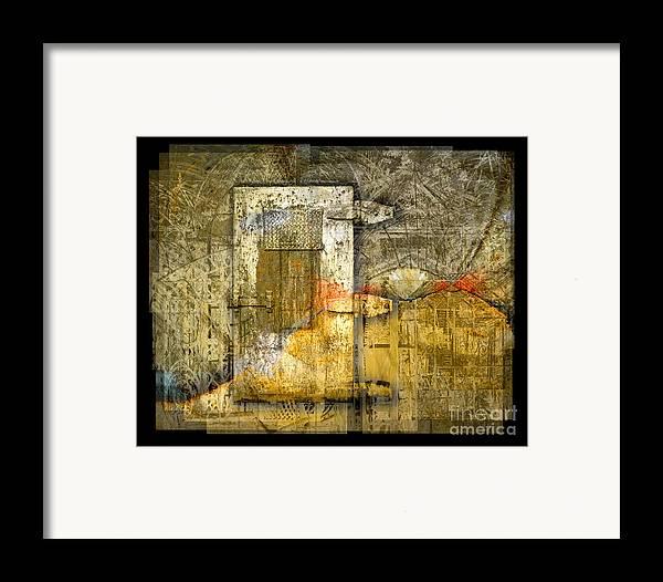 Door Framed Print featuring the digital art Presidio Door by Chuck Brittenham