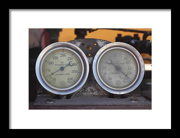Gauge Framed Print featuring the photograph Pressure Gauge by Troy Montemayor