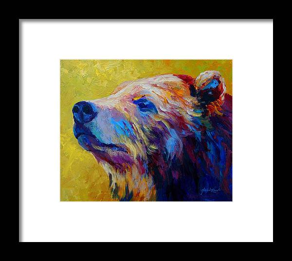 Bear Framed Print featuring the painting Pretty Boy - Grizzly Bear by Marion Rose