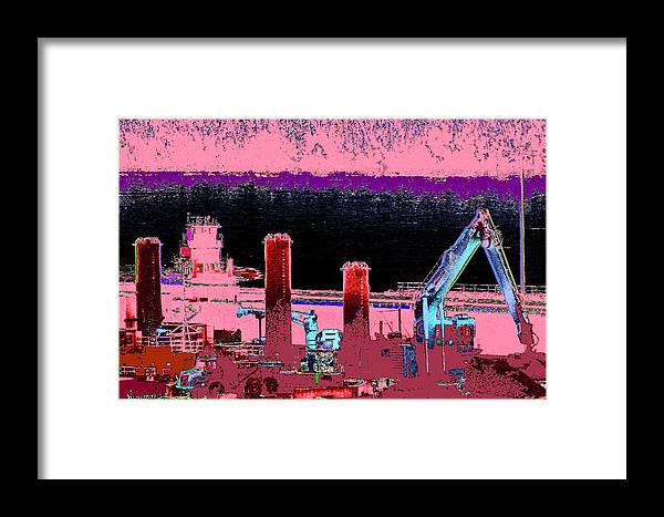 Abstract Framed Print featuring the photograph Pretty In Pink by Rachel Christine Nowicki