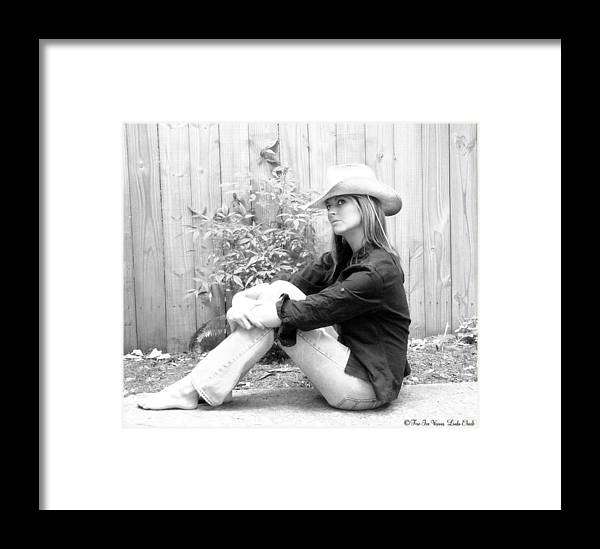 Cowgirl Framed Print featuring the photograph Pretty In Western by Linda Ebarb