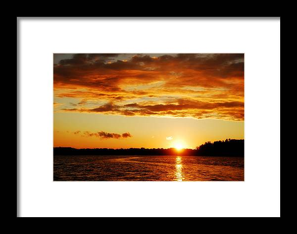 Sunset Framed Print featuring the photograph Pretty Orange Sky by Madelin Zaycheck