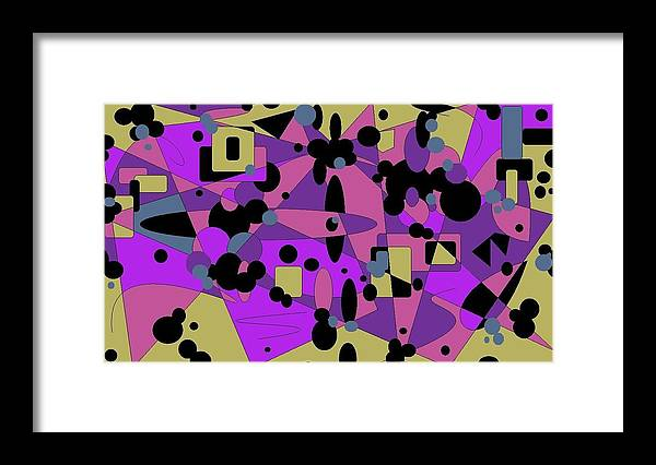 Digital Abstract Framed Print featuring the digital art Pretty Picture by Jordana Sands