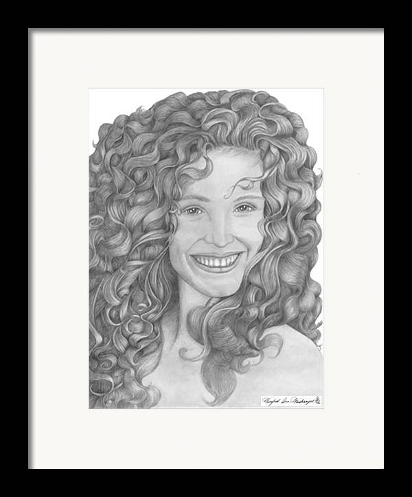 Portraits Framed Print featuring the drawing Pretty Woman by Winifred Ann Weishampel