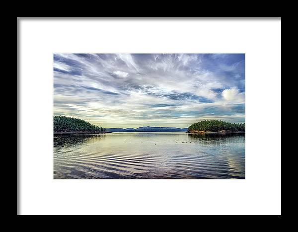 Sea Scape Framed Print featuring the photograph Prevost Harbor Evening by Geoffrey Ferguson