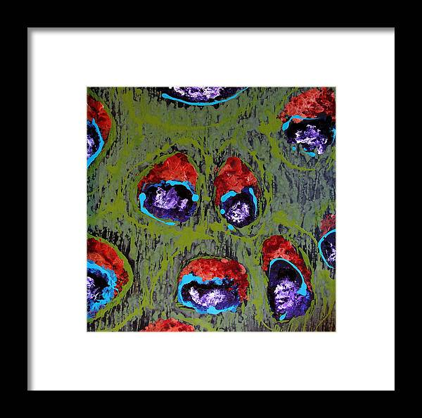 Abstract Framed Print featuring the painting Pricilla by Jess Thorsen