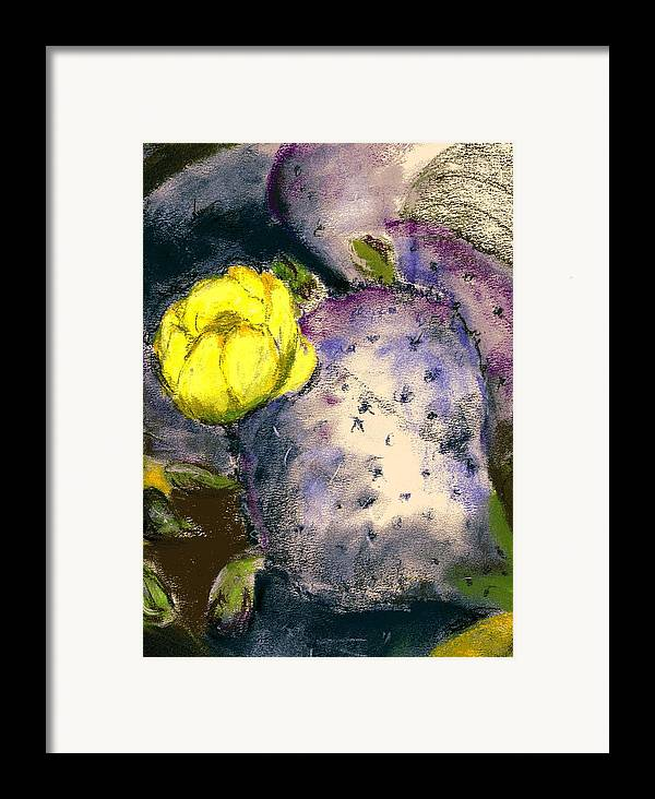 Cactus Framed Print featuring the painting Prickly Pear by Marilyn Barton