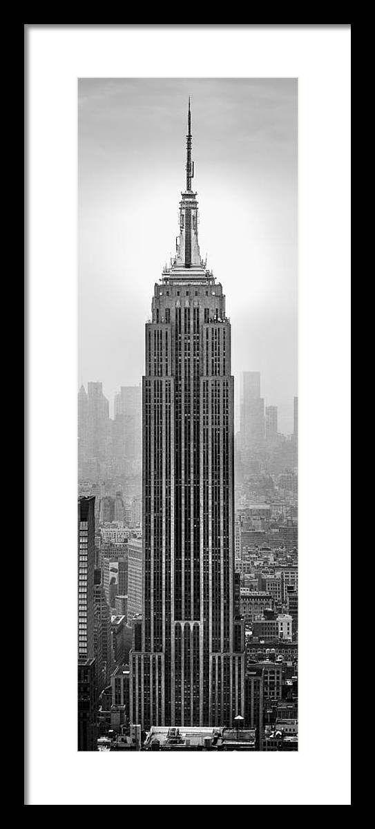 Empire State Building Framed Print featuring the photograph Pride Of An Empire by Az Jackson