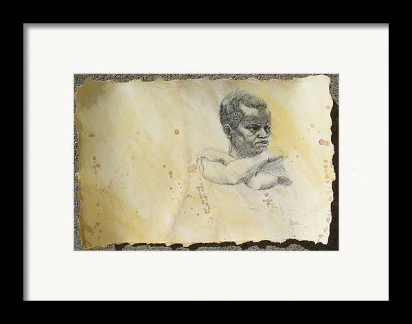 Drawing Framed Print featuring the drawing Pride by Victor Amor