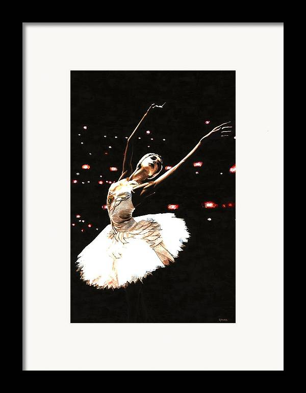 Prima Ballerina Framed Print featuring the painting Prima Ballerina by Richard Young