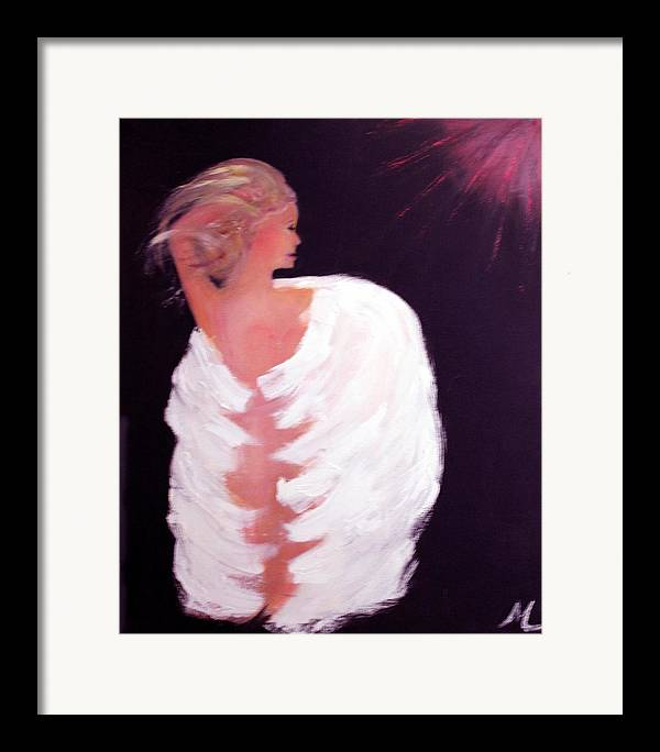 Angel Religious Devotional Cosmic New Age Framed Print featuring the painting Primal by Michela Akers