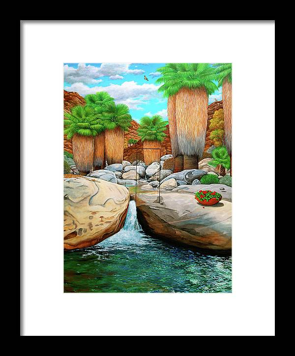 Landscape Framed Print featuring the painting Primary Escape Route by Snake Jagger