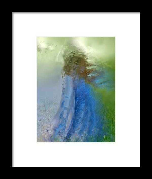 Digital Art Framed Print featuring the digital art Primavera by Clare Iacobelli