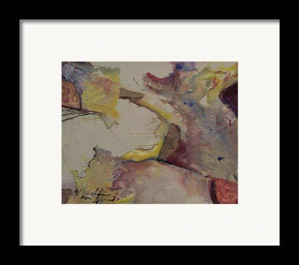 Abstract Framed Print featuring the painting Primordial Soup by Kevin Stevens