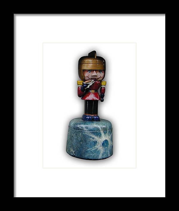 Nutcracker Framed Print featuring the sculpture Prince Gordon by Paul Illian
