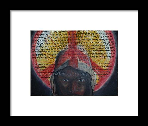 Portrait Framed Print featuring the painting Prince Of Peace by Darryl Hines