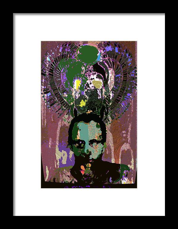 Self Portrait Framed Print featuring the drawing Prince Of The Nile 2 by Noredin Morgan